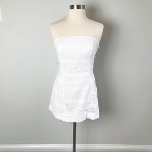 Free People Tube Top White Dress Tie Back